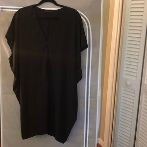 Black hatch slouch dress